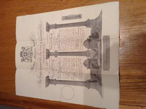 Masonic Lodge Certificate