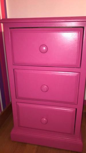 Solid pine painted pink table