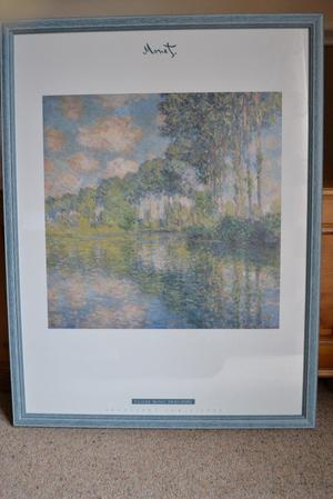 MONET LIMITED EDITION PRINT - NUMBERED  - PEUPLIERS SUR L'EPTE VERY NICE CONDITION