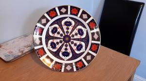 ROYAL CROWN DERBY VERY LARGE CHARGER / CHOP PLATE 1ST QUALIT
