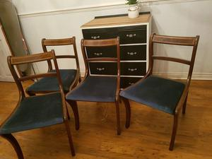 4 solid wood antique chairs