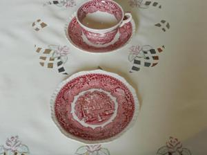 Antique Plate Cup & Saucer REDUCED