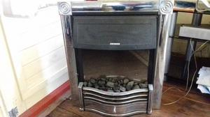 ELECTRIC COAL EFFECT FIRE WITH CHROM FRONT AND MANTLE SURROUND**