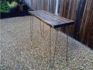 Rustic reclaimed console table in Herne Bay