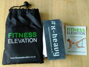 NEW SET OF FITNESS BANDS & EXERCISE CARDS