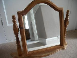 PINE CHEVAL DRESSING TABLE MIRROR