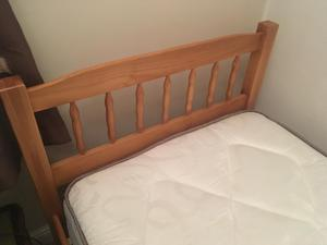Brand new single bed with new mattress