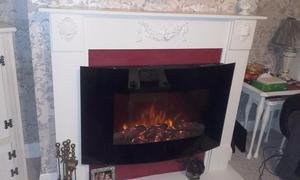 flame / log effect electric fire and surround