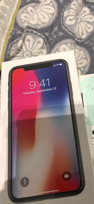 iPhone X new sealed space grey 64gb unlocked with warranty