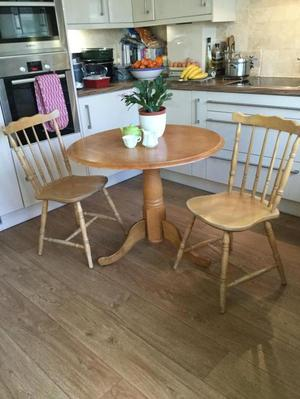 Round table two chairs