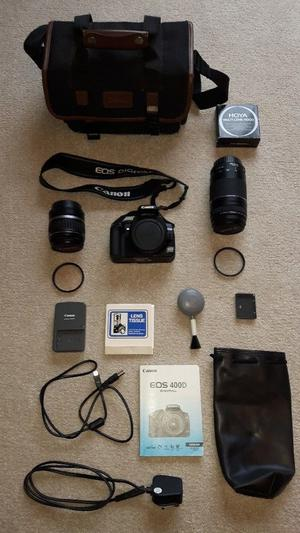 Canon EOS 400D. Complete with mm & mm zoom lenses