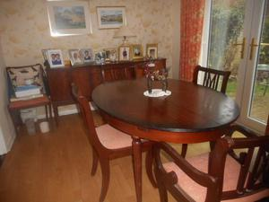 Dining Room table, chairs and sideboard.