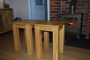 Solid Oak side tables