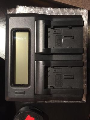 Dual Digital Battery Charger Including 4 x 6 Hour Batteries