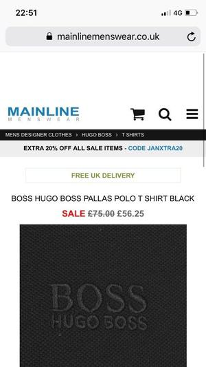 Brand new Hugo boss polo t-shirt jeans