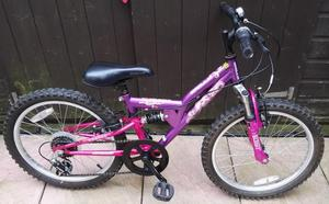 CHILDS 5 SPEED APOLLO MOUNTAIN BIKE WITH SUSPENSION