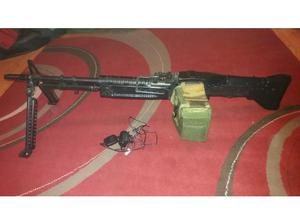 Airsoft M60 made by ASGK presented by Top, brand new battery
