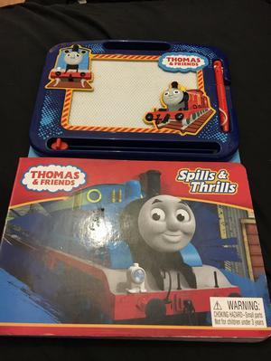 Thomas & Friends Spills &Thrills Book & Magnetic Drawing Pad