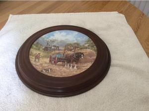 Collectors plate by John Chapman in South Brent