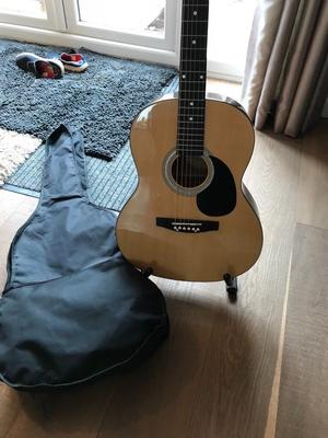 Full Size Acoustic Guitar with Case & Stand