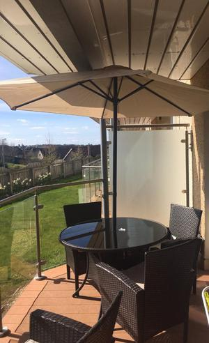 Garden Furniture - 4 chairs; table and parasol