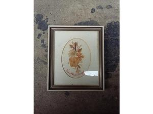 Isle of wight framed pressed wild flowers, hand written
