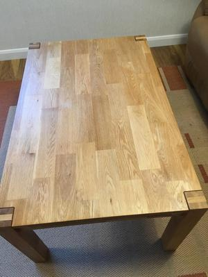 Solid light Oak Coffee Table