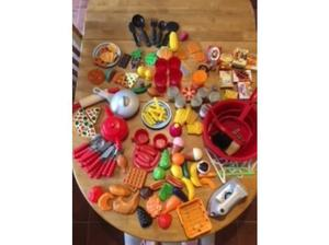 Children's Plastic Play Kitchen Food and Accessories over