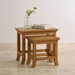 Solid oak Taunton nest of tables