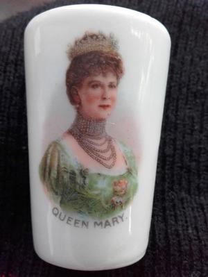 Antique Miniature Porcelain Queen Mary Beaker