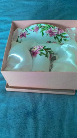 Bone china cup and saucer..