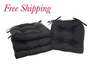 Set of 4 Chair Cushion with ties Seat Pad Garden Patio