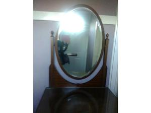 Antique dresser with large oval mirror in Sidmouth