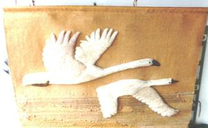 Hand crafted tapestry - Wall Hanging (Wild geese In flight)