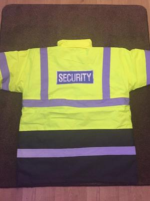HI VIZ HI VIS SECURITY WATERPROOF JACKET YELLOW SIZE 2XL