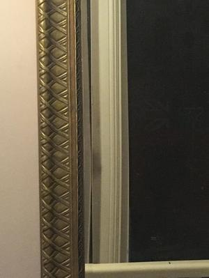 Gold framed mirror and matching picture frame £50