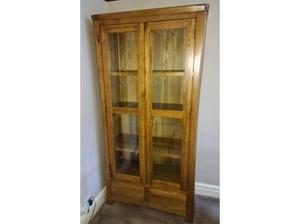 Solid oak display cabinet. in Cardiff