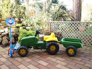 Kids Pedal Tractor and Scooter