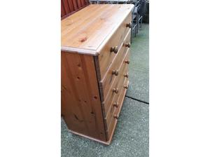 Chest of draws pine wood ideal for bedroom kitchen hallway