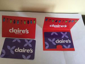 2 x new Claire's gift cards