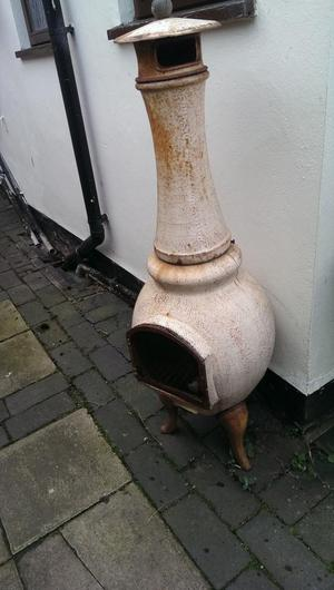 Cast Iron Chimnea, Garden Patio Heater Steel