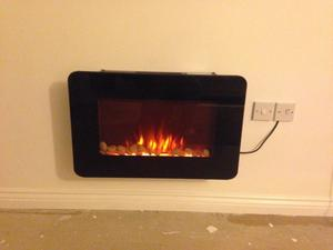 Electric heater fire place