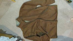 Hugo Boss mens suede leather jacket size XL