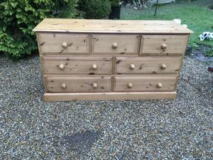Solid Pine 7 Draw Chest of Draws
