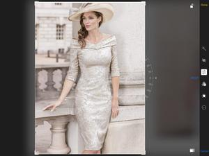 John Charles mother of the bride dress plus matching hat