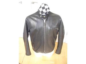 SCHOTT 141 TAGGED 44 BLACK LEATHER MOTORCYCLE JACKET in St.