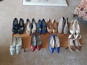 Job lot of Womens shoes (All fit Size 4)