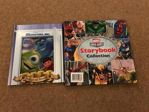 Disney Monsters Inc and Marvel Superhero Collection book