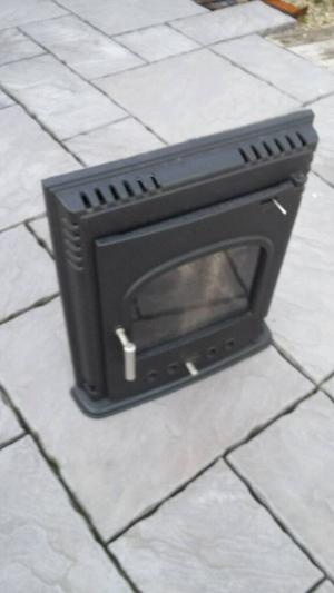 Inset log burning stove