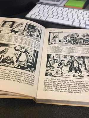 The Story of Oliver Twist told in pictures